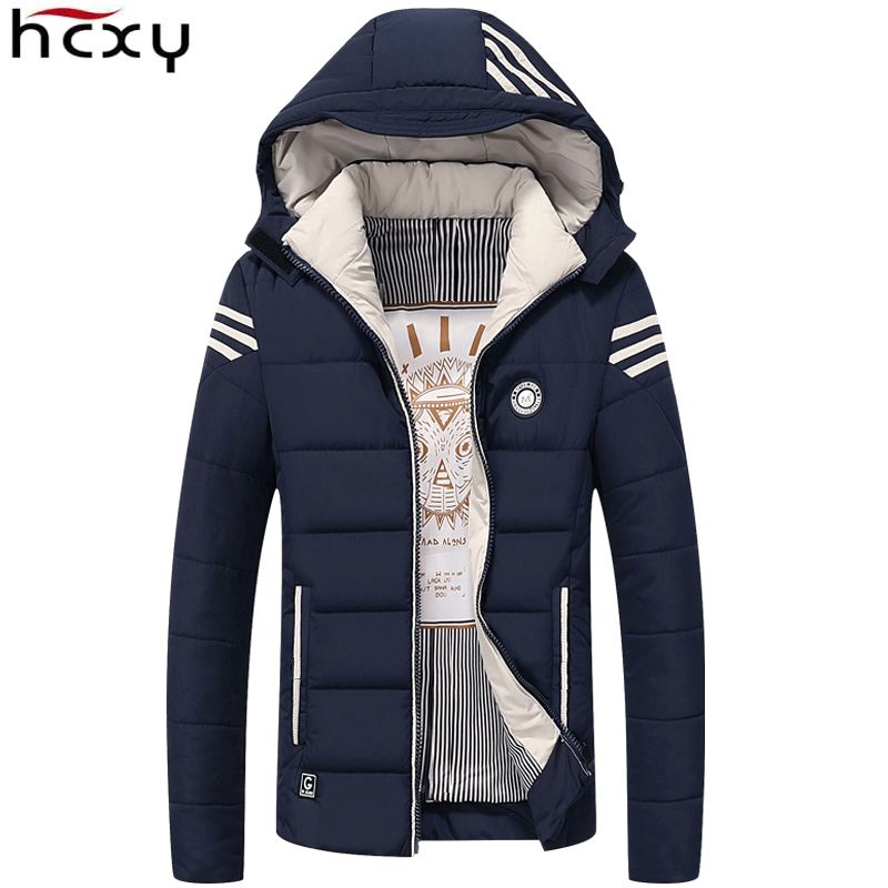 HCXY Men Winter Jacket 2017 Brand Casual Mens Jackets And Coats Thick <font><b>Warm</b></font> Jacket Men Parka Outerwear Coat Plus Size 4XL