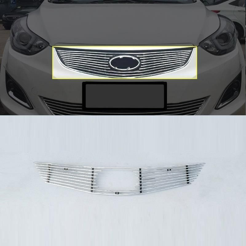 Grille exterior promote modified decorative modification accessory car styling trim parts sticker strip 16 FOR Hyundai Elantra