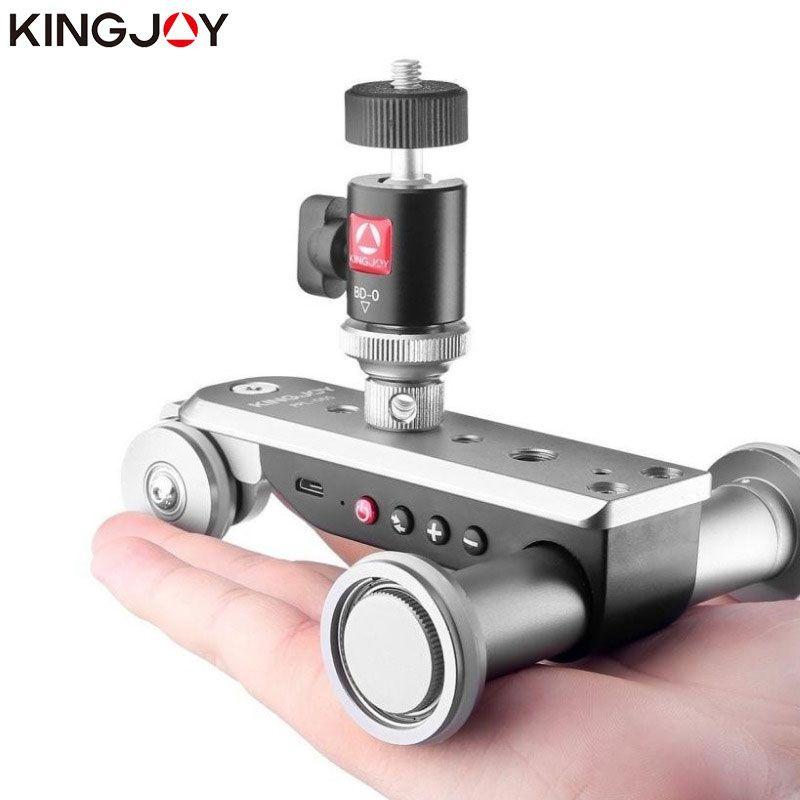 KINGJOY PPL-06S Dolly Slider Camera Timelapse Panoramic Mini Motorized Electric Track Slider Dolly Car Time Lapse Wish Ballhead