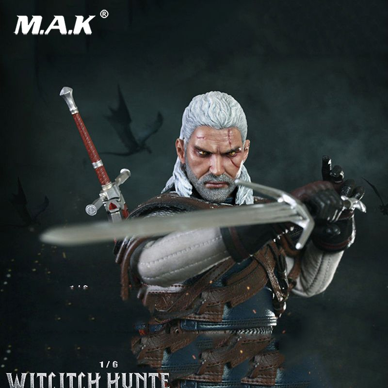 For Collection 1:6 CM002 Pop Games The Witcher Witch Hunter Geralt Collectible Figure Specification Full set Toy gift