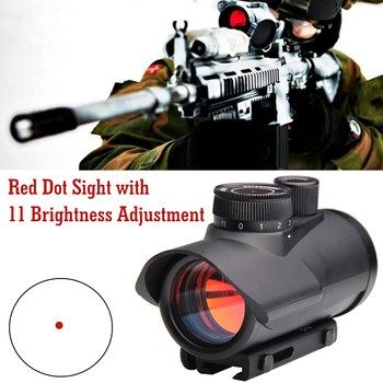 Tactical Hunting Holographic 1 x 30mm Red Dot Sight Scope 11mm & 20mm Weaver Rail Mount HT5-0040