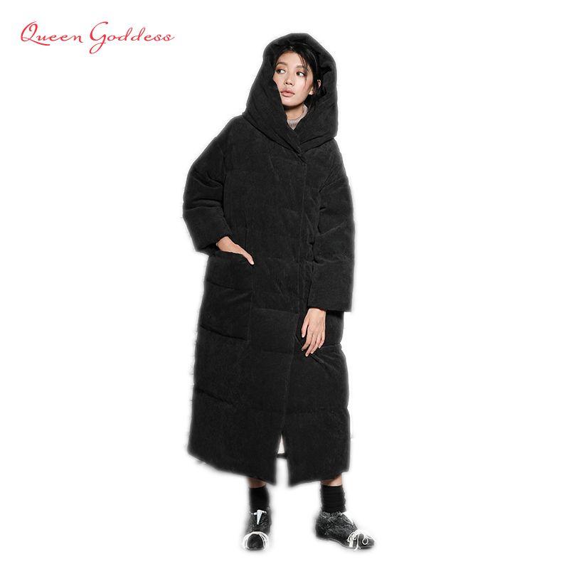 Super long Super thicken Super Fashion Original design women winter warm jacket with had causal coat big pocket plus size parkas