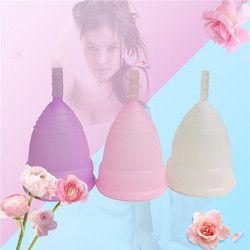 Venta caliente menstrual copa para las mujeres higiene femenina producto grado médico silicona vagina uso tamaño pequeño o grande Anner Copa