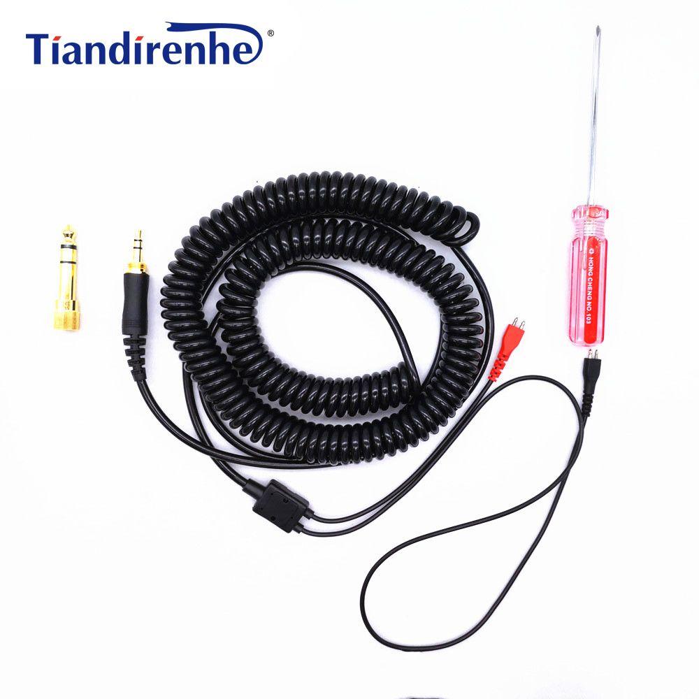 Для наушников SENNHEISER HD25 HD 25 HD25-1 HD25-1 II HD25-C HD25-13 Замена 1.8 м упругой ремонт гарнитура обновления аудио кабель