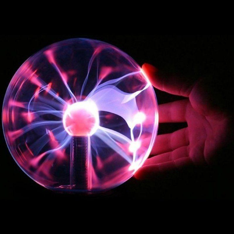 Lave lampe boîte foudre magique Plasma boule rétro lumière 3 pouces enfants noël fête Cristal cadeau chambre décoration