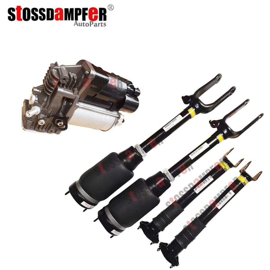 StOSSDaMPFeR 5 stücke Front Air Schock Ohne ADS Hinten Air Ride Luft Kompressor Fit Benz W164 GL450 ML X164 GL 1643206113 1643200304