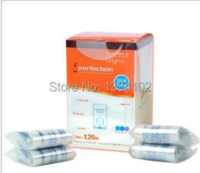 120 пакетов объемом 200мл для хранения детского питания или грудного молока с индикатором температуры и застежкой зип-лок