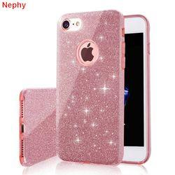 Nephy caja del teléfono celular para el iPhone 6 iPhone 6 s iPhone 7 8 más X 10 5S 5 S SE 5SE 6 más 6 SPlus 7 más 8 Plus lujo silicona cubierta