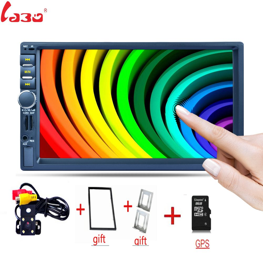 7 inch capacitive touch screen Bluetooth GPS Navigation Fast Charge Car Stereo Radio Video player Rear camera +Frame+GPS 7156G
