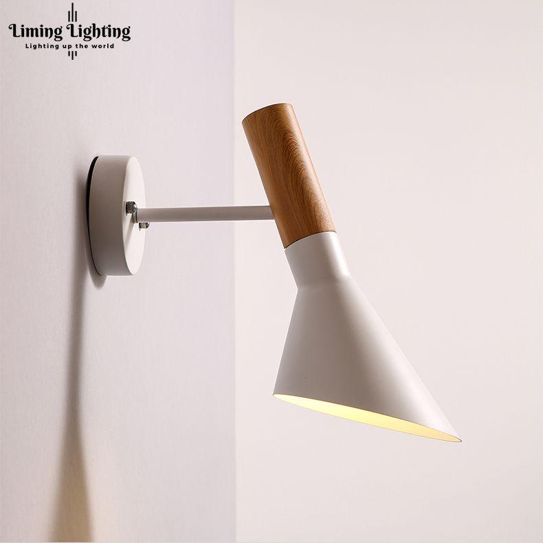 Free Shipping Replica Modern Vintage Arne Jacobsen wood LIKE Wall lights Creative AJ iron Wall lamp Modern Sconce light