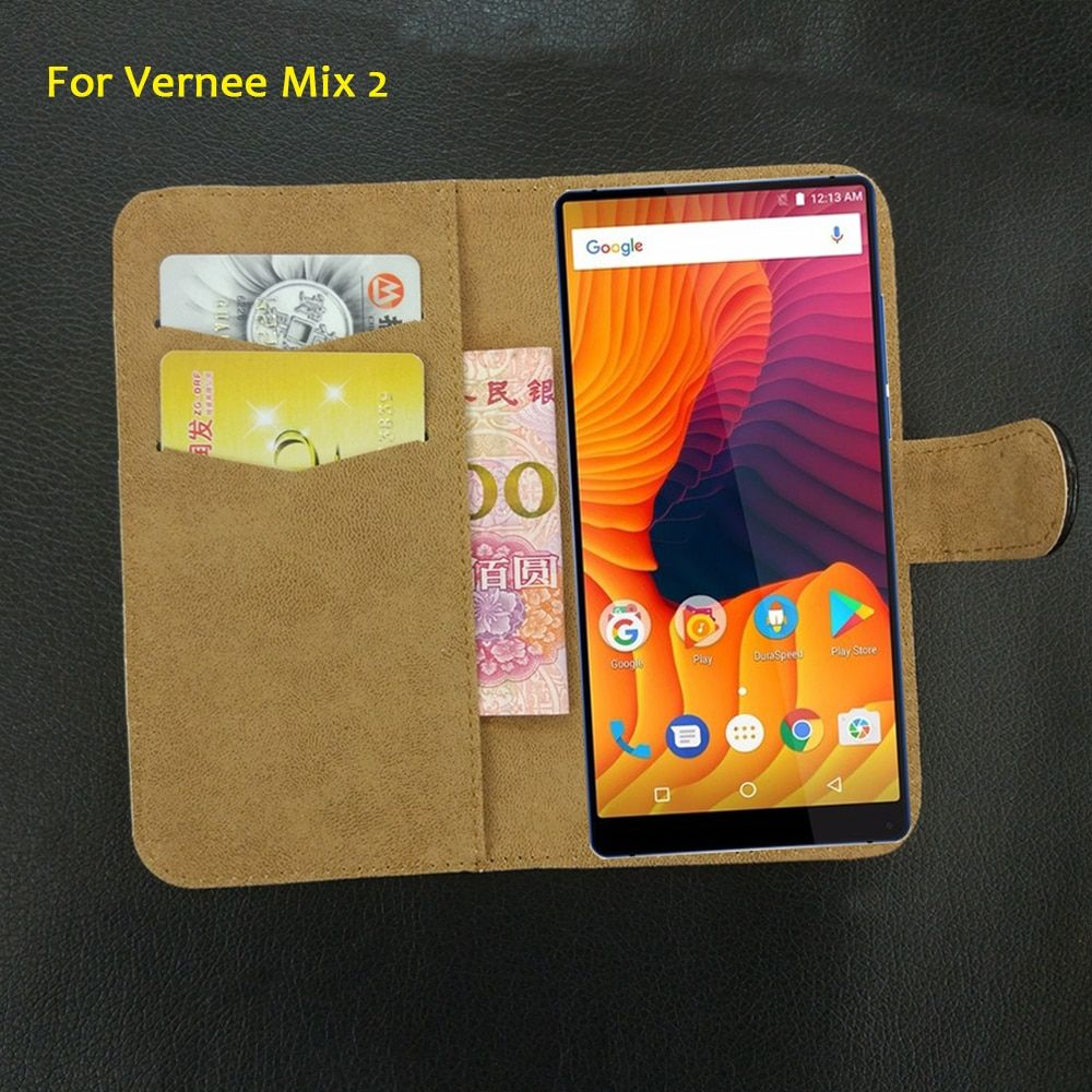 6 Colors Super!! For Vernee Mix 2 Case Flip Leather Luxury Exclusive Protective 100% Special Phone Cover+Tracking