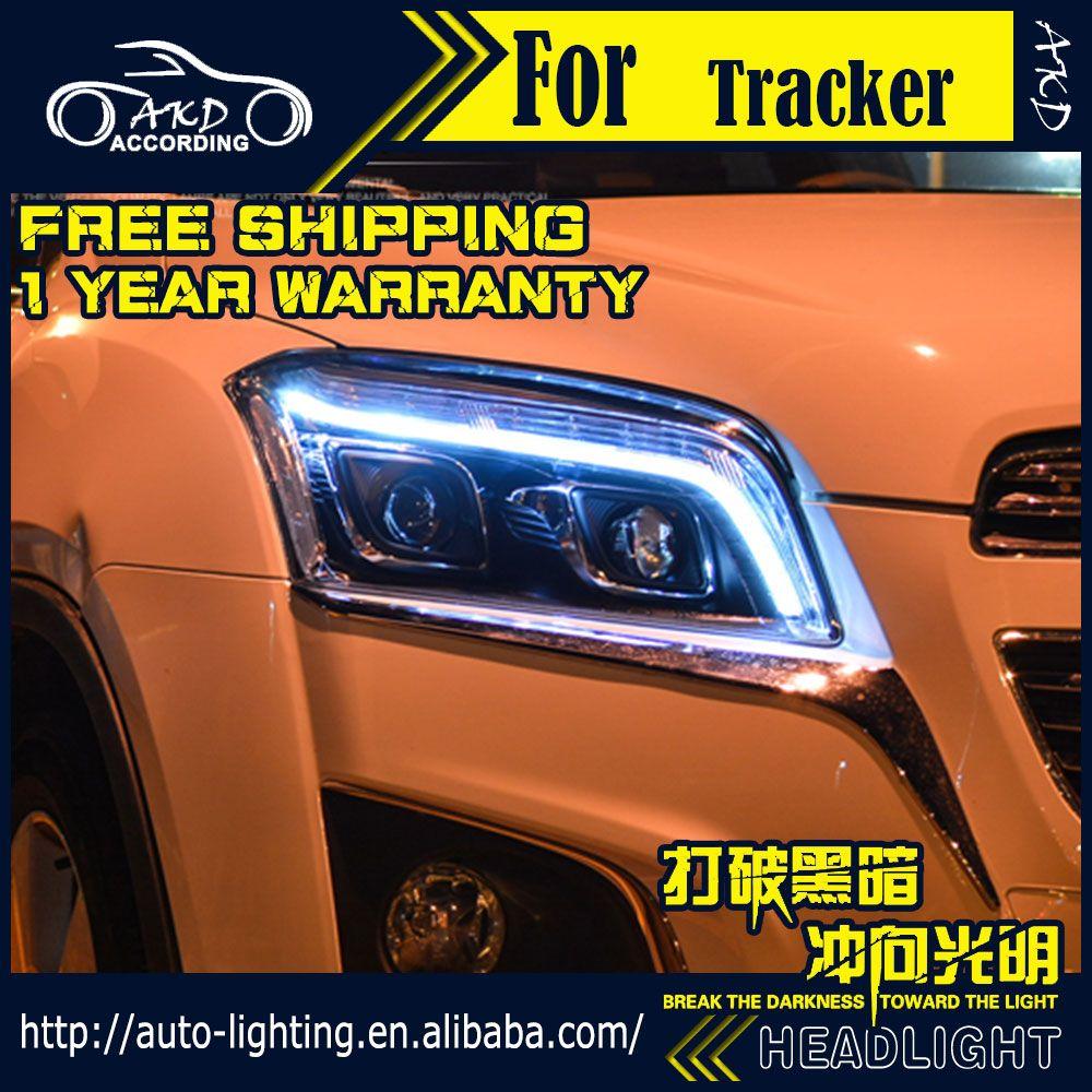 AKD Auto Styling Kopf Lampe für Chevrolet Trax Led-scheinwerfer 2013-2015 Tracker DRL H7 D2H Hid Option Engel Auge Bi Xenon strahl