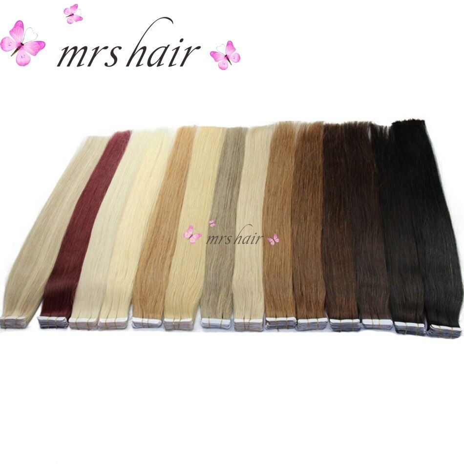 MRSHAIR <font><b>Tape</b></font> In Human Hair Extensions 16 18 20 22 24 Machine Made Remy Hair On Adhesives <font><b>Tape</b></font> PU Skin Weft Invisible 20pcs