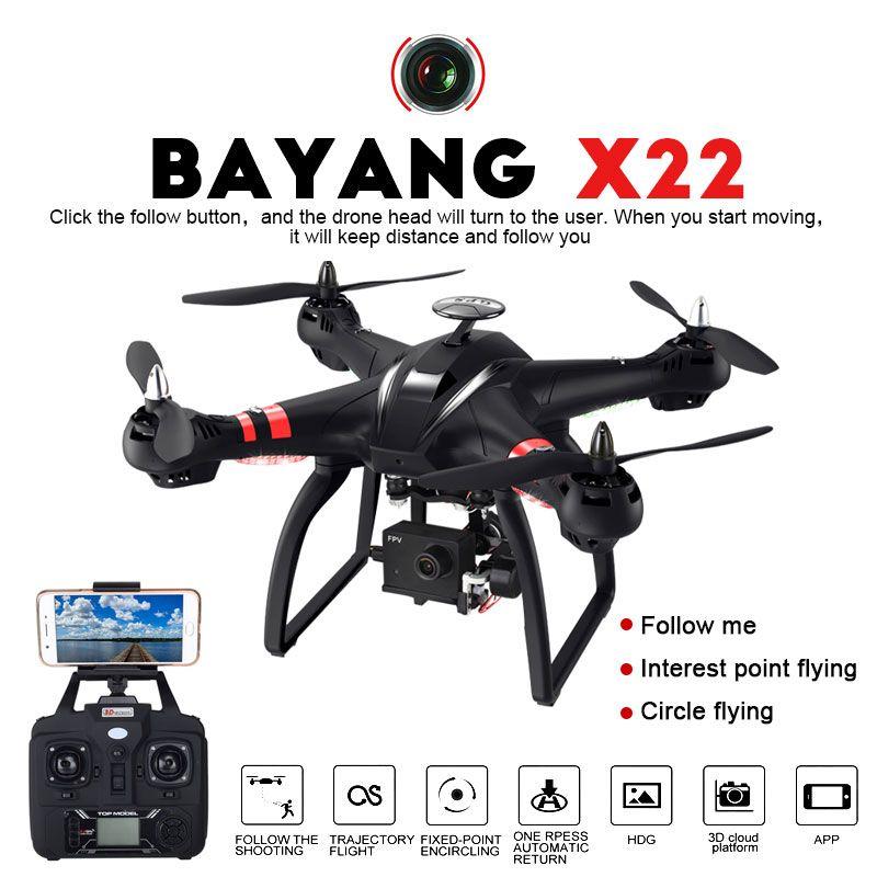 Berufs Drohne BAYANGTOYS X21 X22 Bürstenlosen Doppel GPS WIFI FPV Quadcopter Mit 1080 p HD Kamera 3D Achse Einstellbare Gimbal