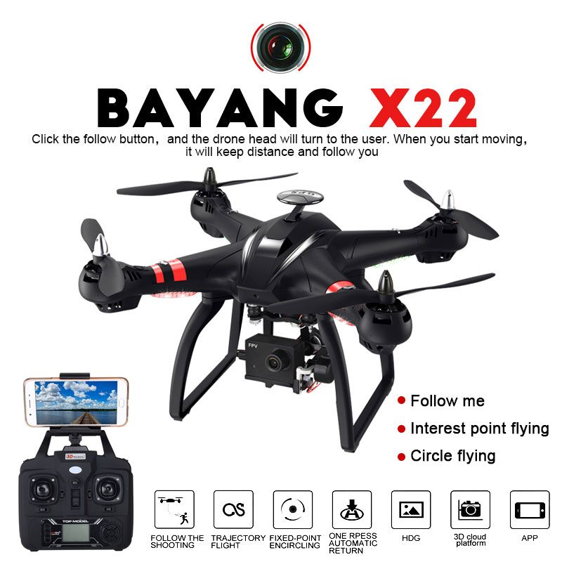 Professional Drone BAYANGTOYS X21 X22 Brushless Double GPS WIFI FPV Quadcopter With 1080P HD Camera 3D Axis Adjustable Gimbal