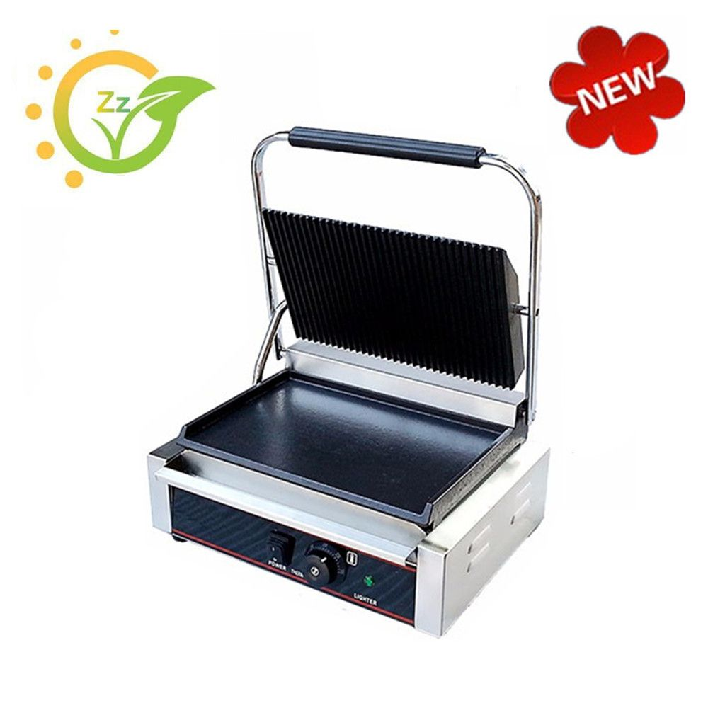 Commercial sandwich machine 220V Single Plate Electric Griddle Grill Steak Sandwich Toaster Maker Machine