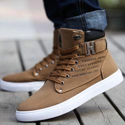 Caliente 2018 primavera otoño Lace-Up zapatos de lona de los hombres tamaño grande hombre hebilla botines casuales invierno moda cuero zapatos para hombre