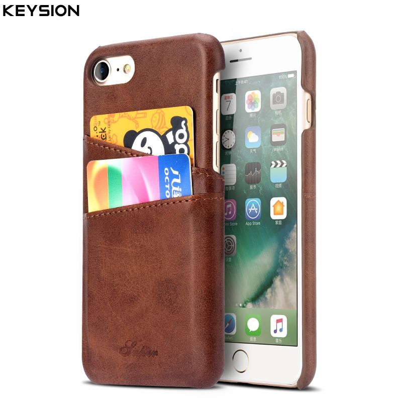 KEYSION Case For iPhone 6 6S 6 Plus 6S Plus Cover Leather Luxury Wallet Card Slots Soft Back Capa For iPhone 6Plus Cases Fundas
