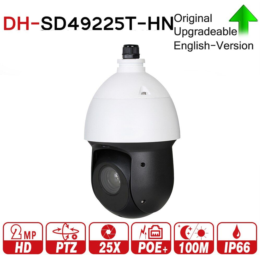 DH SD49225T-HN with logo original 2MP 25x Starlight IR PTZ Network IP Camera High Speed IP Dome Camera Digital Zoom Waterproof