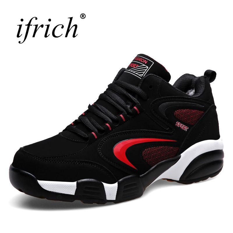 Новое поступление 2017 года Для мужчин Для женщин зимние Термальность спортивная обувь бренды теплая Бег Спортивная обувь черный Мех животны...