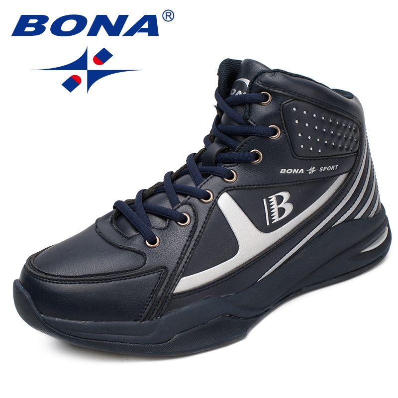 BONA Neue Ankunft Art Männer Basketball Schuhe Lace Up Herren Sportschuhe Outdoor Jogging Turnschuhe Komfortable Schnelles Freies Verschiffen