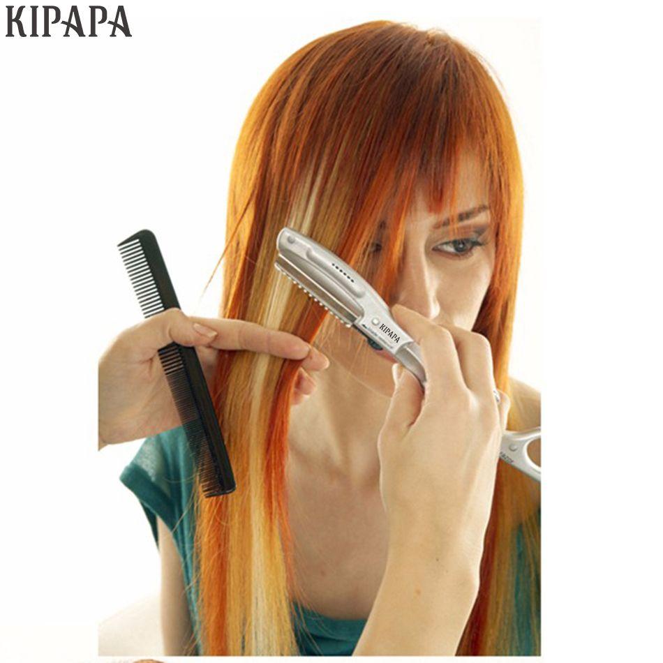 Ultrasons Rasoir Vibrant Chaud pour Coupe De Cheveux Salon de Beauté des Cheveux Styling Eviter Pointes Fourchues Super Rasoir Lames