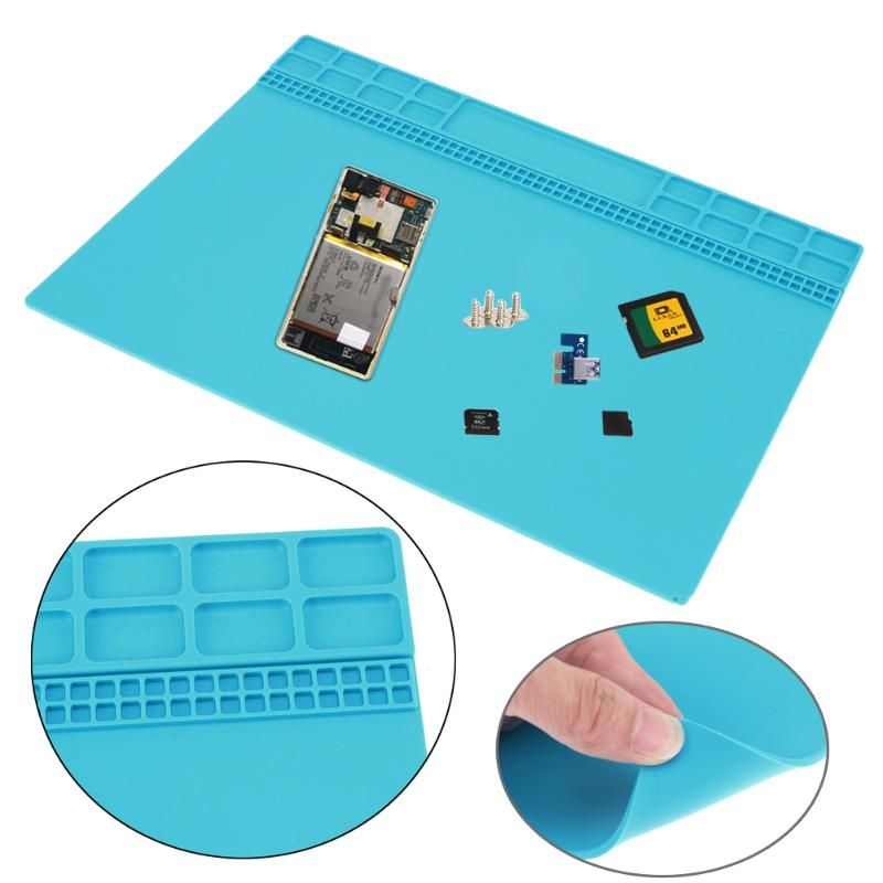 Heat Resistance Soldering Silicone Mat Electronic Silicone Heating Pad Repair Station Maintenance Platform 350 X 250 mm