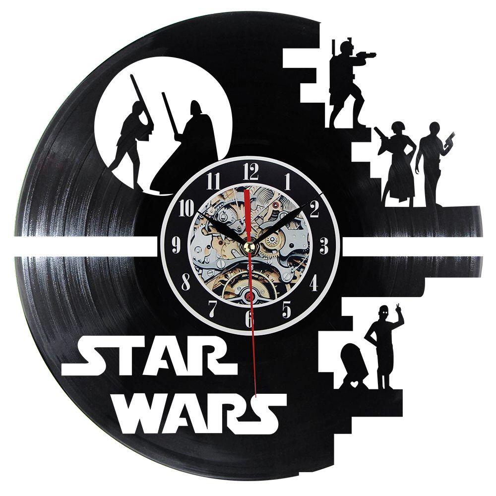 Fashion Creative Clock CD Vinyl Record Wall Clock Film Theme Home Decor 3D <font><b>Hanging</b></font> Watches Duvar Saat Home Decoracion