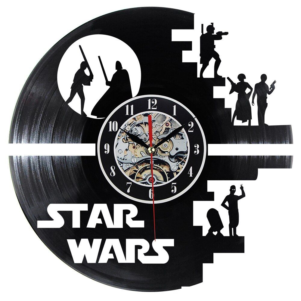 Fashion Creative Clock CD Vinyl Record Wall Clock Film Theme Home Decor 3D Hanging Watches Duvar Saat Home Decoracion