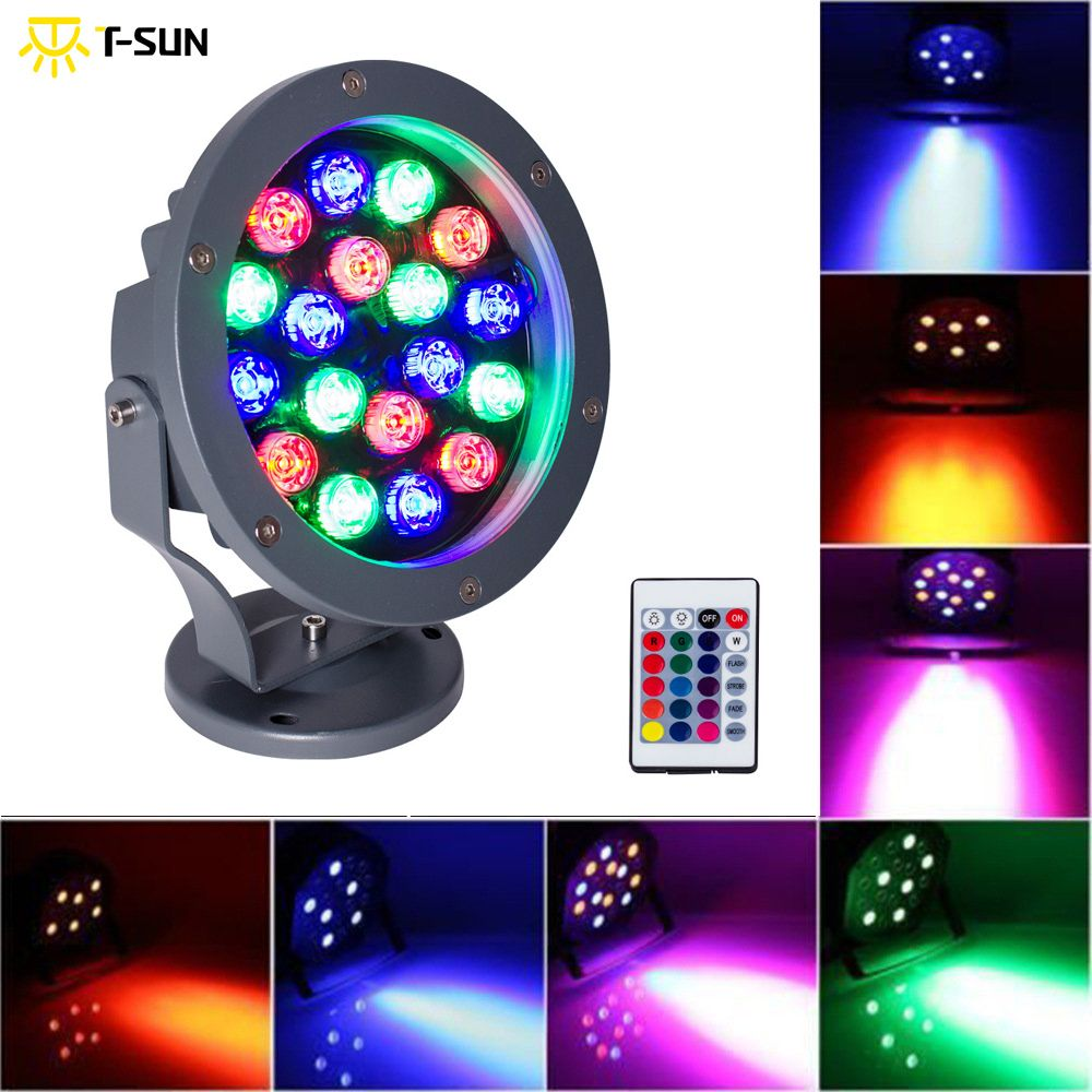 T-SUN 20W Led RGB Floodlights Par Lights Disco Stage Lights 4 Mode Available 12 Colors Combinations IP65 for Birthday Party Bars