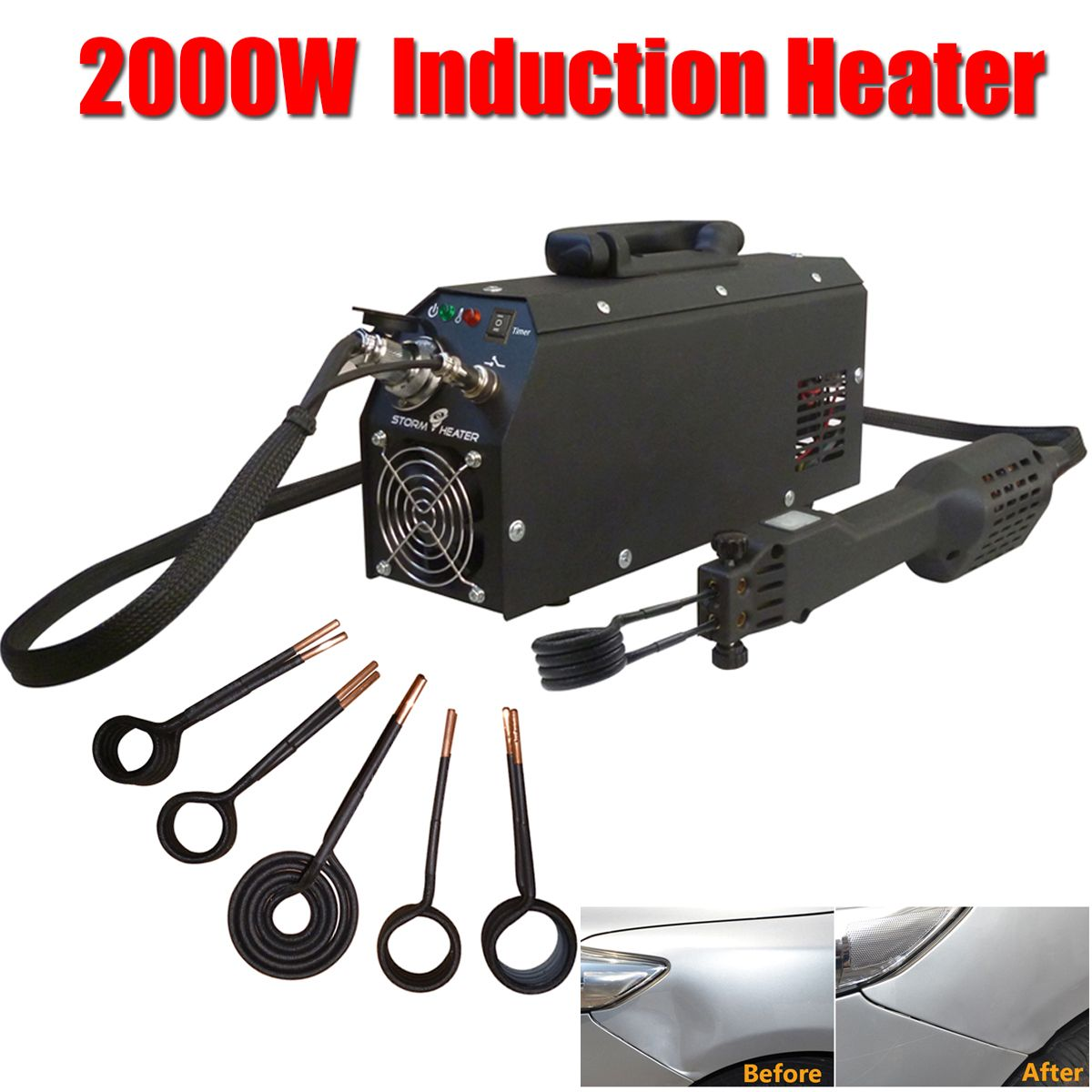 2000W Car Removal of Dents Tool Car Induction Heater Repair Machines Tool Paintless Removing Tool for Car Repair Car Body Repair