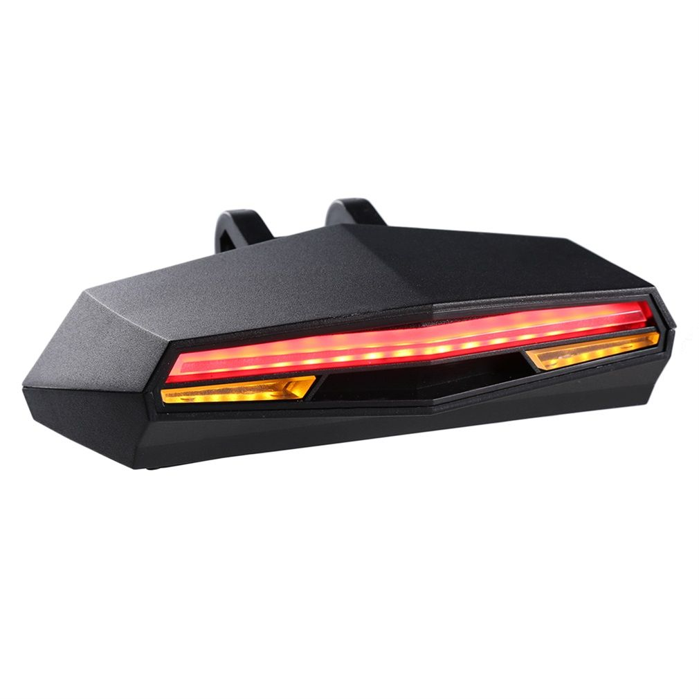 ABS Smart Rear Laser Bicycle Light Bike Lamp LED USB Rechargeable Wireless Remote Turning Control Cycling Bycicle Light