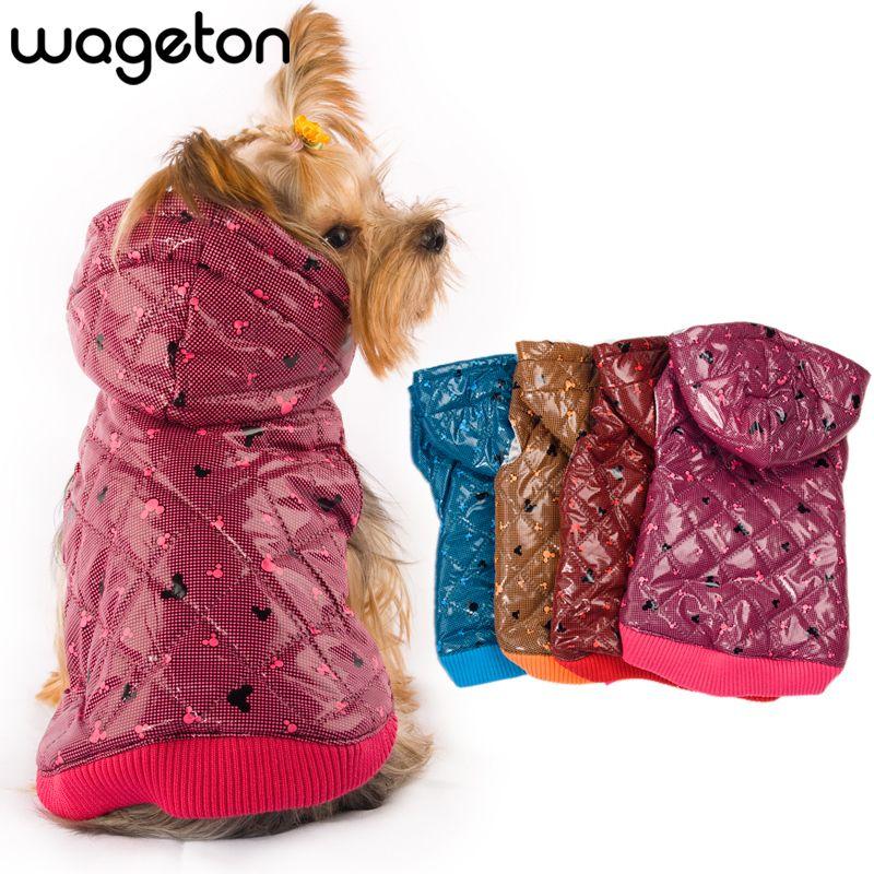 Livraison Gratuite! WAGETON mode chien vêtements offre spéciale! Vêtements pour animaux de compagnie en gros et au détail-5 couleurs