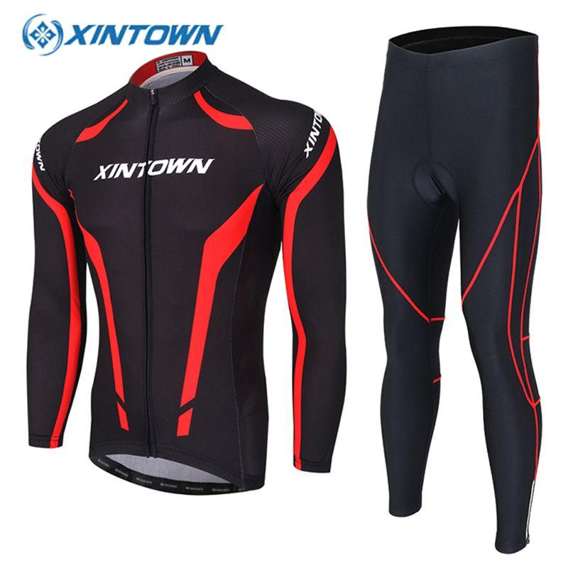 XINTOWN Langarm Radfahren Set Mtb 2018 Jersey Bike Wear Kleidung Ropa Ciclismo Fahrrad Kleidung Männer Wielerkleding