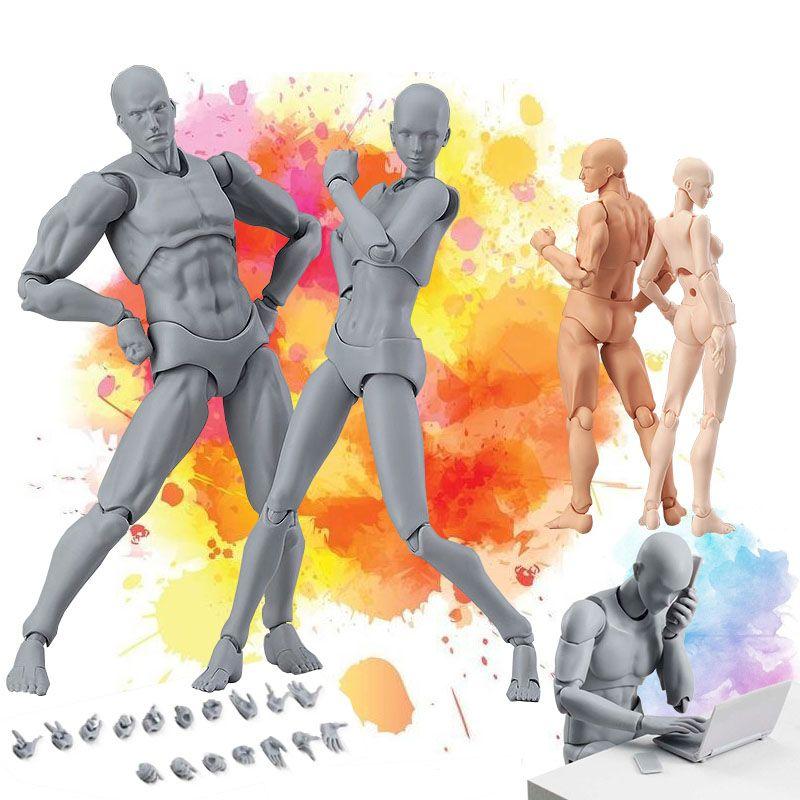 Figma He She corps mobile Action Figure jouet artiste Art peinture Anime modèle poupée Mannequin Art croquis dessiner corps humain poupée