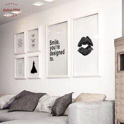 Nordic Canvas Art Print Poster,Minimalism Lip Wall Pictures for Home Decoration,Decoration Pictures Wall Art Decor NOR004