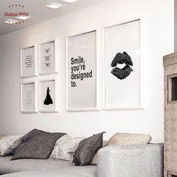 Nordique Toile Art Print Affiche, minimalisme À Lèvres Mur Photos pour La Décoration, mur Art Décor NOR004