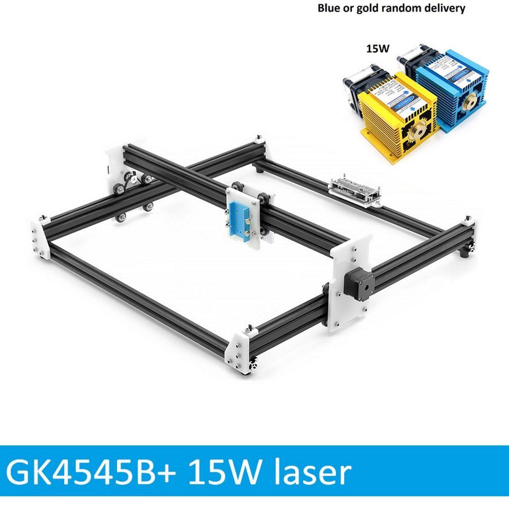 15 W Holz Laser Carving Maschine Cutter 45*45 cm Stecher 5500 MW Holz Router DIY Mini CNC Drucker PWM, benbox GRBL EleksMaker