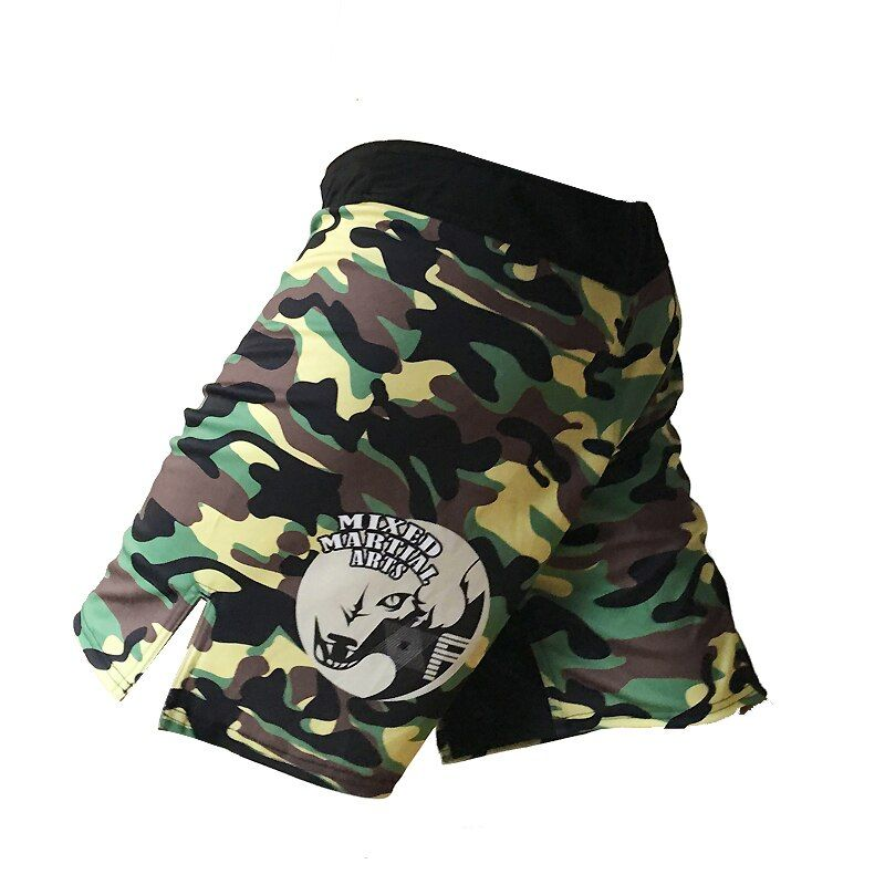 Short Mma muay thai pantalon de boxe boxeo sanda sport camo kickboxing combat hommes grappin