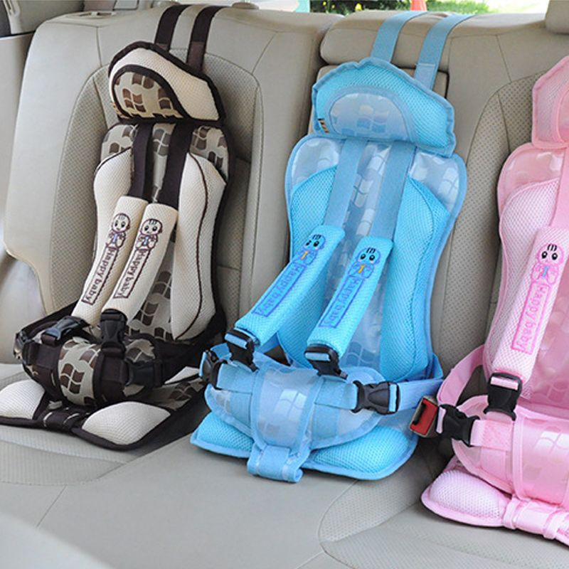 New 1-5 Years Old Baby Portable Car Safety Seat Kids Car Seat 25kg Car Chairs for Children Toddlers Car Seat Cover Harness