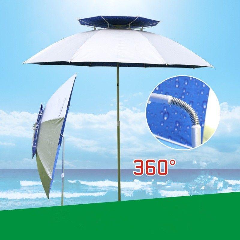 1.8m Outdoor Fishing Camping Folding Waterproof Sunscreen Umbrella Beach Rest Angling Universal Anti UV Sunshade Umbrella Awning
