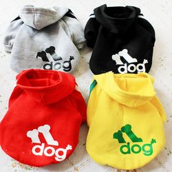 XS-8XL perro ropa primavera Hoodies caliente para perros chaqueta ropa para perros cartas impresión pequeño/Medio/ perros grandes 38Q