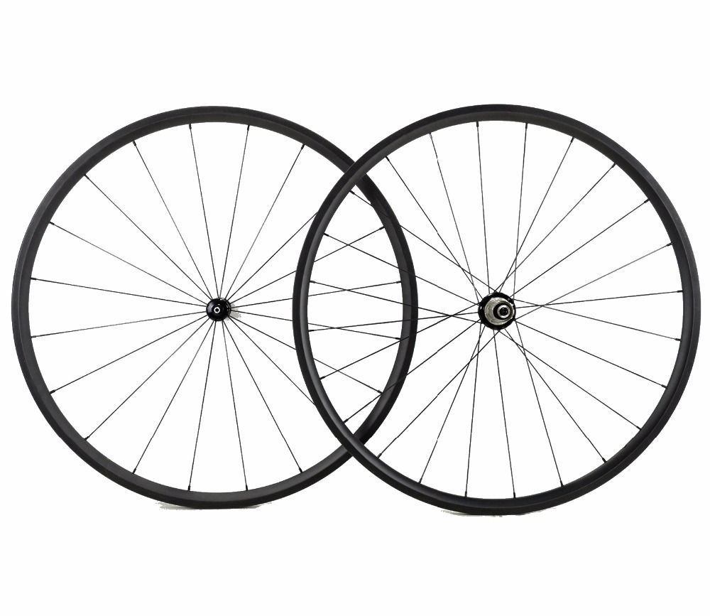 Free shipping 24mm depth road carbon wheels 700C 23mm width Tubular super light Climbing bicycle carbon fiber wheelset UD weave
