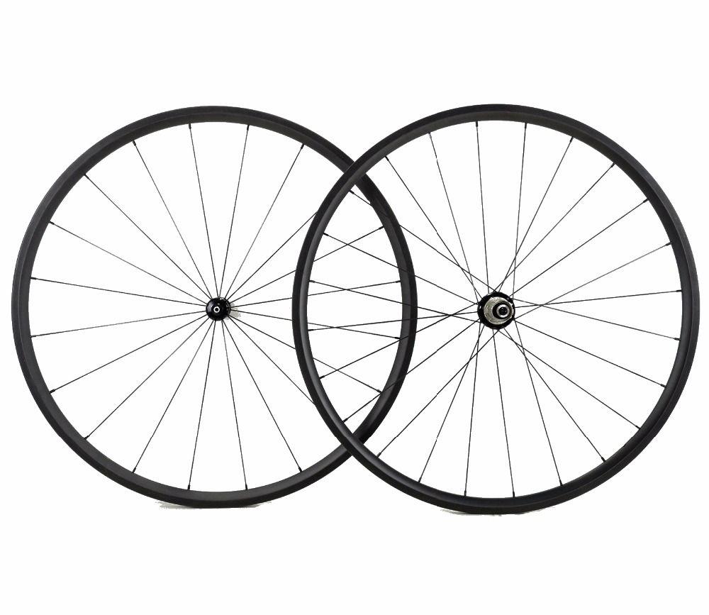 Freies verschiffen 24mm tiefe straße carbon räder 700C 23mm breite Rohr super Klettern fahrrad wheelset UD weben