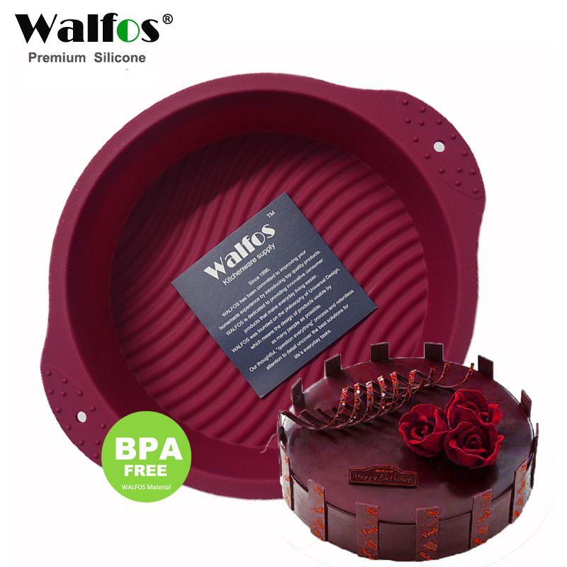WALFOS 20*6.5 CM 160G grande et belle forme ronde 3D Silicone gâteau moule outils de cuisson ustensiles de cuisson moule plateau cuisson