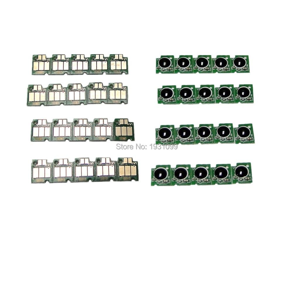 10set Cartridg chip For Brother LC127 LC125 LC 127 125 LC 127XL 125XL For brother MFC-J4410DW J4510DW J4610DW J4710DW