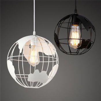 Restaurar maneras antiguas, hierro forjado Lámpara decorativa, globo forma bola línea colgante E27 droplight, iluminación decoración del hogar
