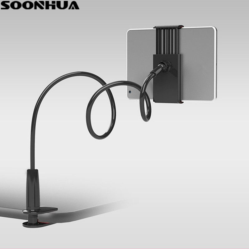 SOONHUA Phone Holder 360 Rotating Flexible Long Arm lazy Phone Holder Clamp Bed Tablet Car Selfie Mount Bracket for 4-10