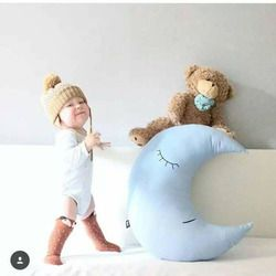 Bayi Bantal Infantil Balita Bulan Tidur Bantal Tidur Bayi Mainan Lucu Anak-anak Kamar Tidur Portabel Tidur Set Bayi Dekorasi Kamar