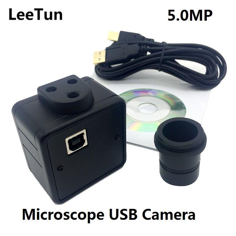 LeeTun 5MP Microscope Electronic Eyepiece USB Video CMOS Camera Industrial Digital Image Capture 5 Megapixel High Resolution